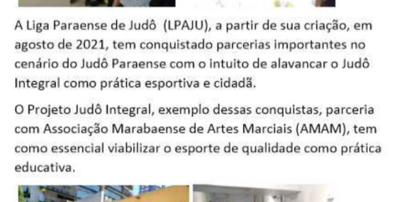 Nova parceria da Liga Paraense de Judô - LPAJU